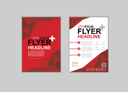 a4: Brochure Fl yer design Layout template in A4 size set