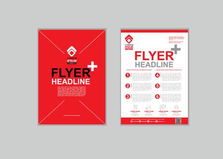 fl: Brochure Fl yer design Layout template in A4 size set