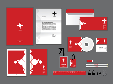 letter head: corporate identity template for your business includes CD Cover, Business Card, folder, ruler, Envelope and Letter Head Designs L