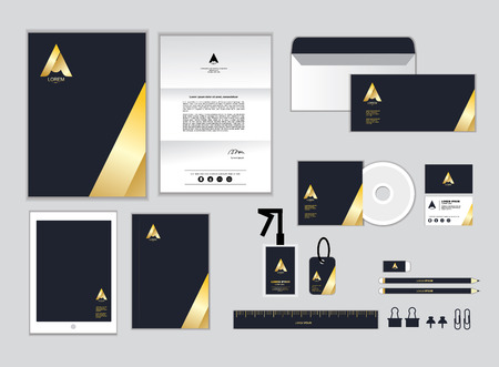 letter head: corporate identity template for your business includes CD Cover, Business Card, folder, ruler, Envelope and Letter Head Designs O