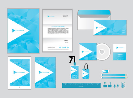 cd cover: corporate identity template for your business includes CD Cover, Business Card, folder, ruler, Envelope and Letter Head Designs R