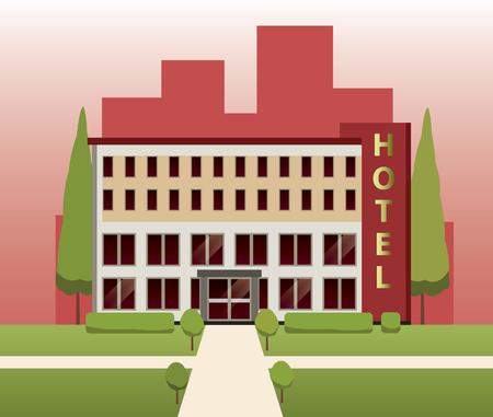 hotel building: Hotel building vector design