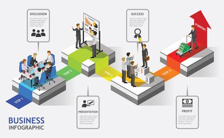teamwork: Isometric Business People Teamwork