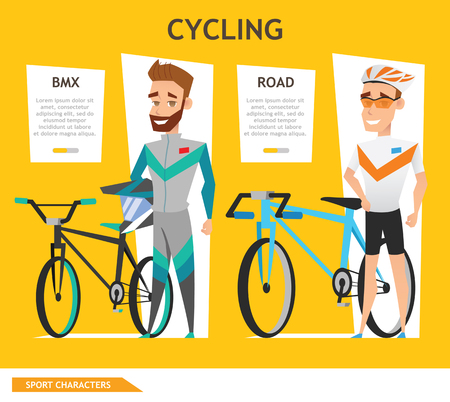 info graphic sport cycling Illustration