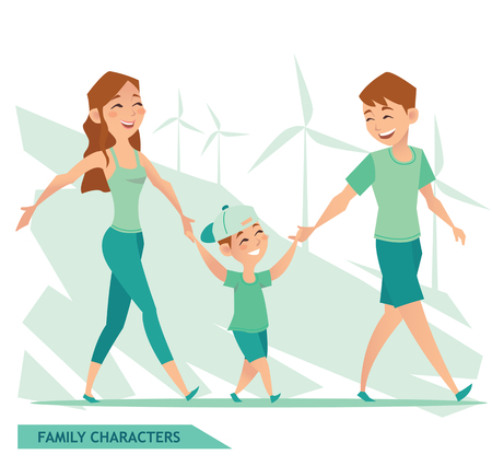 FAMILY CHARACTERS design Illustration