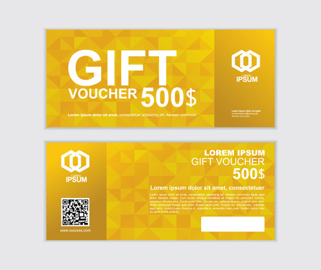gift voucher vector design template set P