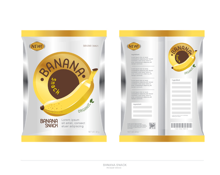 BANANA snack package design Vettoriali