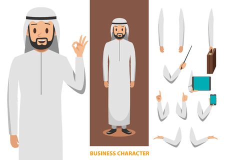 arab business character design 2