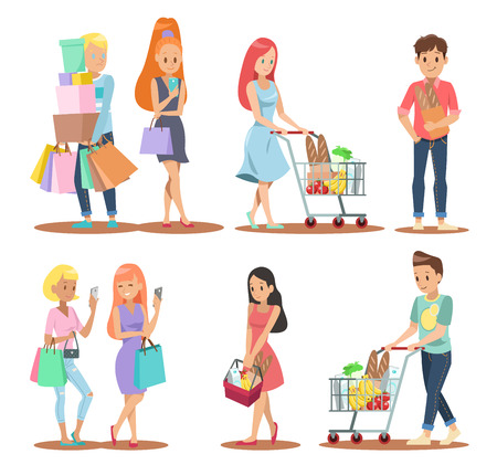 shopping character design