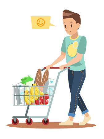 shopping man character design 2