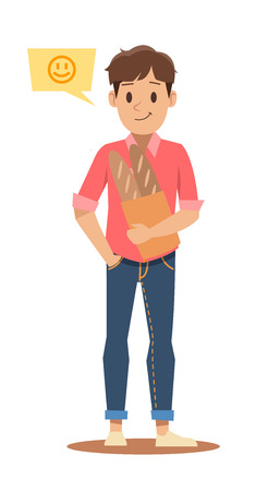 shopping man character design