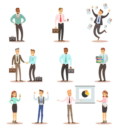 business man and woman character design 2 스톡 콘텐츠 - 127348923