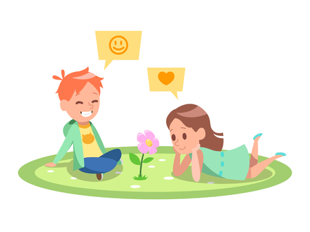 Kids Gardening character design 6 일러스트
