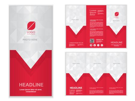 blue Professional business three fold brochure template