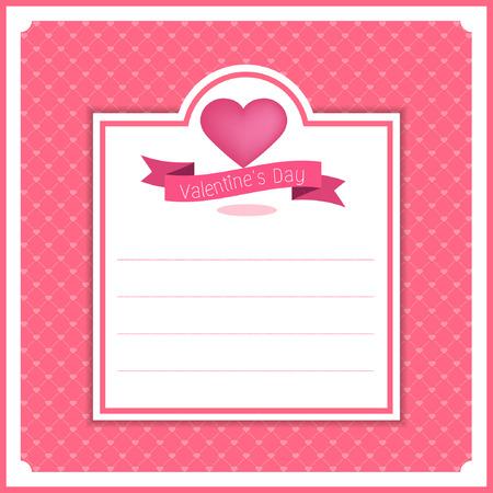 valentine banner template design 일러스트