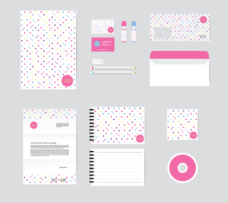 corporate identity template for your business includes CD Cover, Business Card, folder, Envelope and Letter Head Designs No.3 일러스트