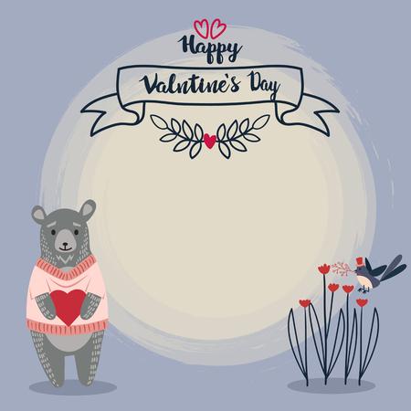 valentine banner template design no20 일러스트