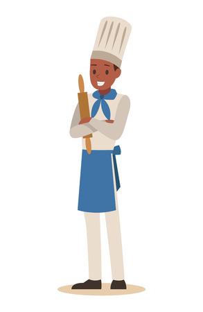 chef cooking in restaurant character design no.4 写真素材 - 127213380