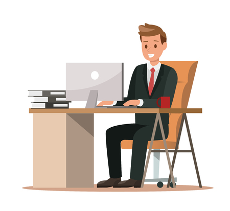 business characters working in office. Vector illustration design no.3