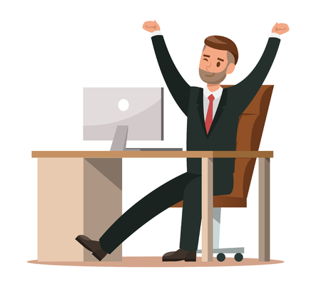 business characters working in office. Vector illustration design no.4