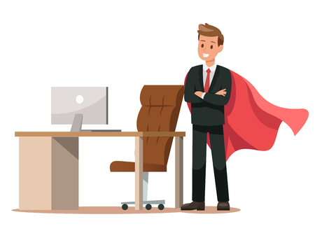 business characters working in office. Vector illustration design no.5
