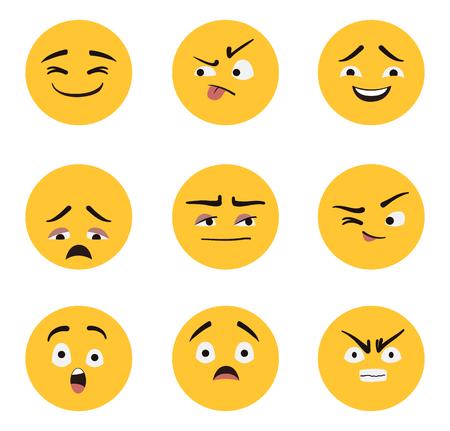 Set of Emoji vector design no2. 일러스트