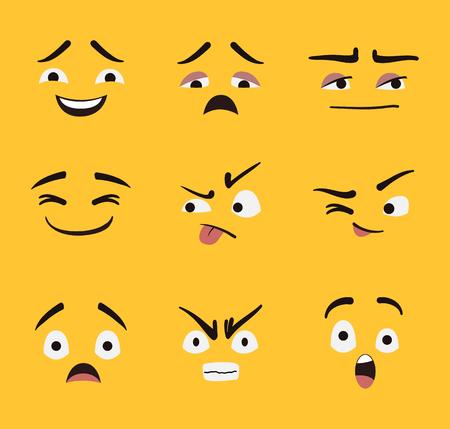 Set of Emoji vector design.