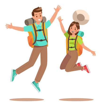 Family lifestyle. Family travel time. Happy family go to Camping. Vector illustration design. no3