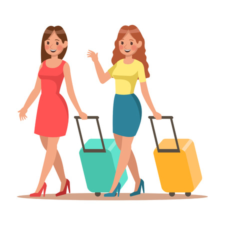 Family lifestyle. Family travel time. Happy family go to travel. Vector illustration design. No4