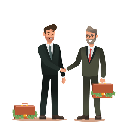 Set of business characters working in office. Vector illustration design No.8
