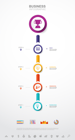 Business infographic Business success concept with graph. vector design. no11
