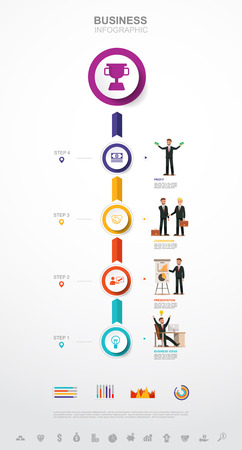 Business infographic Business success concept with graph. vector design. no12