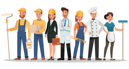 career characters design. Include painter, engineer, doctor and more. 일러스트