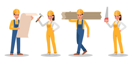 Construction Worker character vector design no5