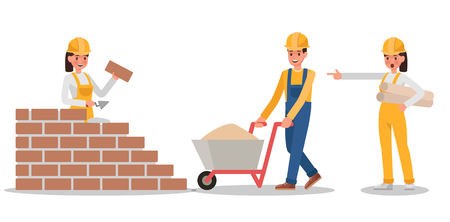 Construction Worker character vector design no6