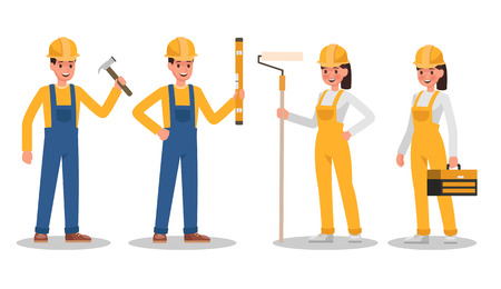 Construction Worker character vector design no10