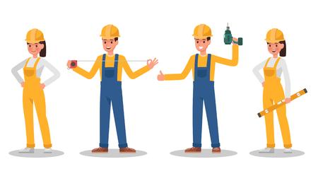 Construction Worker character vector design no12