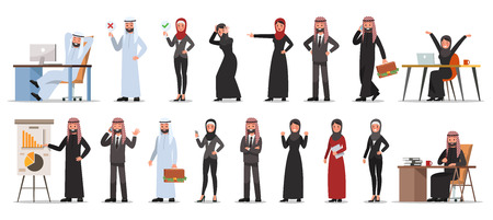 set of businessman character poses no 9 Illustration