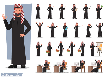 set of businessman character poses no 15
