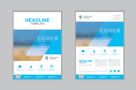 Templates presentation for annual report, flyer, leaflet, brochure, corporate report, advertising. vector design. no9 Ilustração Vetorial