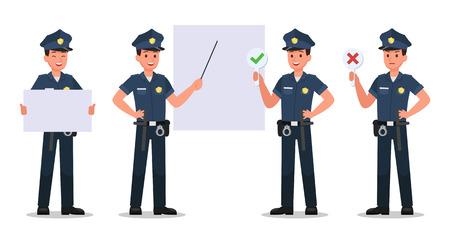 projekt wektora postaci policyjnej no2 Ilustracje wektorowe