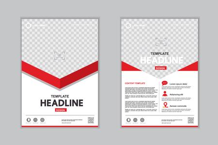 Templates presentation for annual report, flyer, leaflet, brochure, corporate report, advertising. vector design. no11 Ilustração