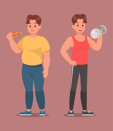 Fitness character vector design no2 Illustration