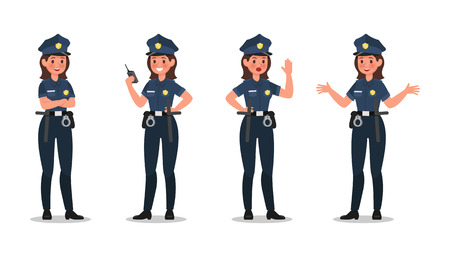 police character vector design no15