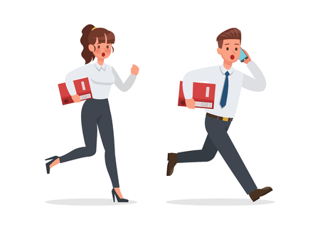 business people working in office character vector design. no5