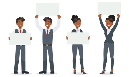 business people working in office character vector design. no19