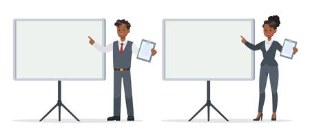 business people working in office character vector design. no21 Ilustração
