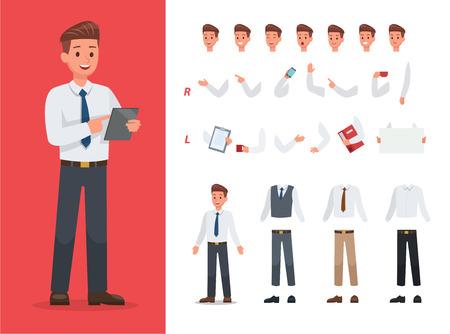 Businessman character vector design no2 Ilustração