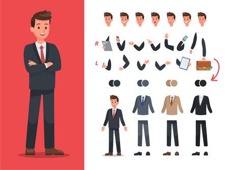 Businessman character vector design Ilustração