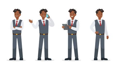 businessman working in office character vector design.No7 Ilustração
